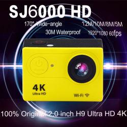 100% Original H9 Ultra HD Video 4K de 170 grados de ángulo amplio de la Cámara de deportes de 2 pulgadas de pantalla a 1080P/60fps Cámara Acción Sj6000 estilo WiFi