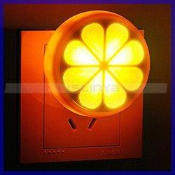 Parede portátil corredor torácica laranja LED do sensor de luz nocturna