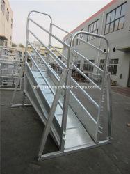 Galvanizado ajustável da portinhola de gado rampa de carregamento