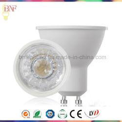 LED GU10 COB Thermalplastic Spotlight para 3W/5W/7W com marcação Saso