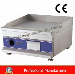 Acero inoxidable plancha eléctrica comercial con certificado CE (WG500).