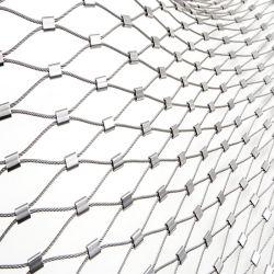Maglia tessuta flessione della rete fissa ss della maglia della corda dell'acciaio inossidabile del giardino zoologico