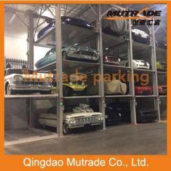 Три уровня четыре должности гидравлический парк оборудования для хранения автомобилей Auto 4 3 Этаж Car укладчика