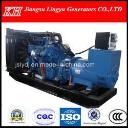 Motor mtu/480kw en silencio Genset /Arranque eléctrico, China origen/Generador Diesel (Ly-43GF)