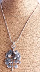 Met de hand gemaakte Halsband van de Tegenhanger van de Ketting van de Slang van de manier de Antieke Zilveren