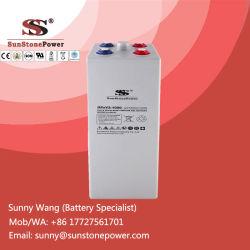Batteries solaires 2V 1000ah Opzv de batteries solaires au plomb de gel de plaque tubulaire profonde de cycle