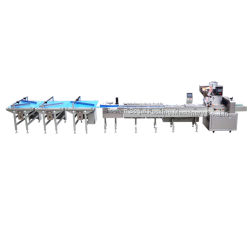 Entièrement automatique de l'OPP&Film PE Sac Machine d'emballage de chocolat Ligne d'enrubannage
