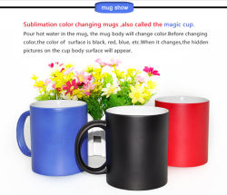 11oz Sublimation Photo Color Changing Mug Withtemperature Sensitive Print Coating