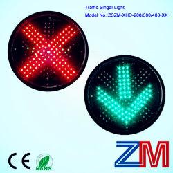 300mm Luz de sinal de trânsito com a Cruz Vermelha e Seta verde