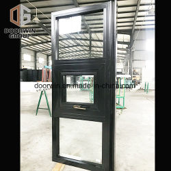 Schwarzer thermischer Bruch-Aluminiumfenster