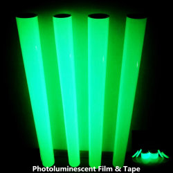 Selbstklebendes Glow in Dark Printing Photoluminescent Film