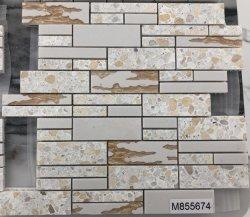 Pedra de quartzo e Arte do mosaico de resina para Decoração de parede