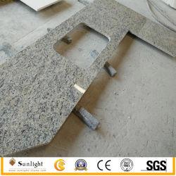 Préfabriqué en usine professionnel Brésil Giallo Santa Cecilia de granit des comptoirs de cuisine
