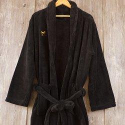 Оптовая торговля 100% полиэстер Balck халат коралловых флис халаты для мужчин