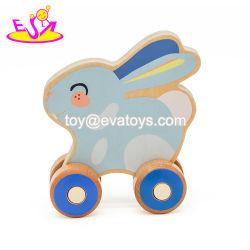 Kids W04A412를 위한 최대 Popular Cute Rabbit Wooden Toy Car