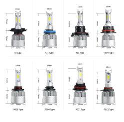 Faro S2 H1 H3 H7 H11 9005 dell'automobile del LED H4 9006 lampada automobilistica della PANNOCCHIA di 6000K 4000lm 36W