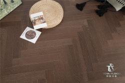 أوك هيرينجبون/لون القهوة الداكن/مصقول/مكسرات الأشعة فوق البنفسجية/أرضية خشبية/خشب ملمر/أرضية خشبية صلبة
