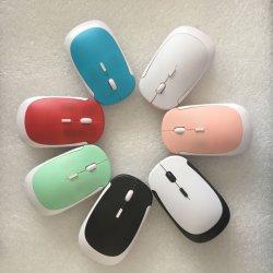 デスクトップおよびラップトップ極めて薄いカラーマウス周辺コンピュータアクセサリのための携帯用無線マウス2.4GHz