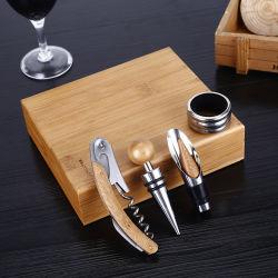Melhores dons abridor de garrafas de vinho rolha de vinho com caixa de madeira