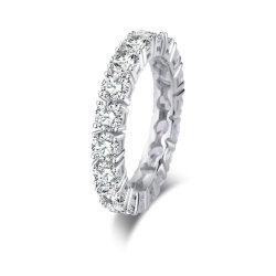 925 de echte Zilveren Ring van de Band van de Manier van Juwelen voor Overeenkomst en Huwelijk