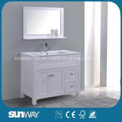 High Gloss White MDF Badmöbel mit Spiegel und Regal
