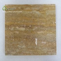 T102 Золотой травертина обрезать до размера плитки полированный