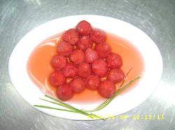 Großverkauf in Büchsen konservierte Erdbeere im hellen Sirup