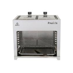 En acier inoxydable Paulida double four-B2-L0 barbecue à gaz Barbecue avec certification ETL pour l'extérieur barbecue au gaz