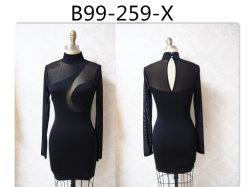 Новые моды Пол женский чисто порванный жгут трикотаж платья длинной втулки