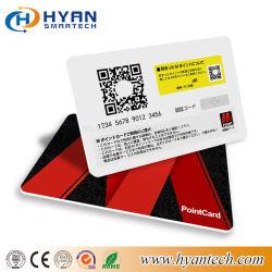 PVC plastifié dépoli Carte d'identité à puce RFID avec code QR