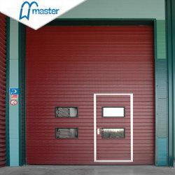 De automatische Veiligheid Geïsoleerdet Partij die van het Staal de Sectionele Industriële Deur van de Garage glijden