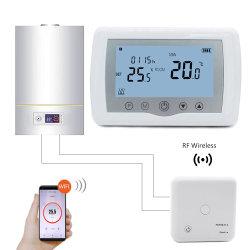 ワイヤレスデジタルルームワイヤレススマート WiFi プログラマブルサーモスタット(ボイラー用 ヒーター
