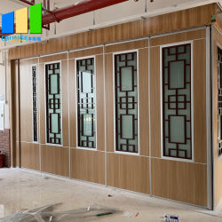 Muren van de Verdeling van de Fabrikant van het Frame van het aluminium de Beweegbare met het Ontwerp van het Glas van de Grill