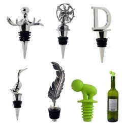 Tapones de botella de vino decorativa, Metal y tapón de corcho de vino de lujo