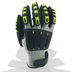Разрежьте устойчив против вибрации механик безопасность защитные рабочие перчатки для строительства