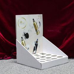Contador de cartón de promoción de la pantalla de barra de labios maquillaje cosmético, minoristas Contador de cartón de soporte de la pantalla superior