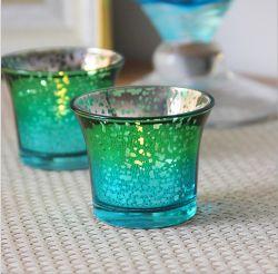 Ртуть стекло стекло вотиве держатель для чашки в форме свечи в форме свечи