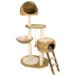 Renelペット製品供給は木のベッドの家のコンドミニアム猫の家具をするポストのScratcherタワーをスクラッチしている供給のアクセサリのケージのバナナの葉の木製猫をもてあそぶ