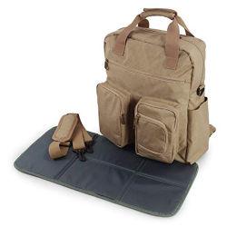 Multifonction 3 en 1 couches de l'épaule rembourrée Bag-Travel Backpack-Adjustable Bag-Tote Sac avec coussinet de remplacement de poche isotherme&