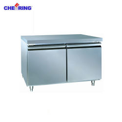 Zujubelnder zwei Tür-HandelsEdelstahlworktable-Kühlraum (48F)