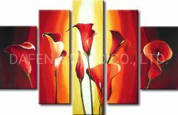 Blumen-Ölgemälde mit Rahmen für Hauptdekoration