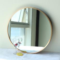 El bastidor de metal de aluminio recubierto de polvo de la Ronda decorativos espejos de pared