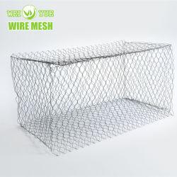 護岸のためのGabion熱浸されたエレクトロによって電流を通される鋼鉄六角形のボックス