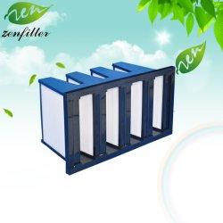 Filtro HEPA compacta estrutura de poliuretano V Banco de filtro de ar para turbinas a gás