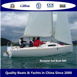 Стекловолоконные 6.8m Bestyear спорта плавание на лодке на 10 человек