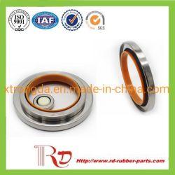 El compresor de aire de un solo labio de PTFE relleno de carbón de los labios de acero inoxidable de doble sello de PTFE del retén de aceite de Rotary