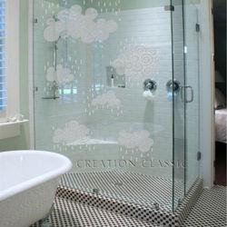 زجاج متجمد محفور من 4 إلى 8 مم حامض لأبواب الحمام والنوافذ