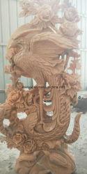 Hand het Gesneden Snijden van /Sculpture Phoenix van het Standbeeld van de Vogel van het Marmer/van het Graniet van de Steen met Bloem