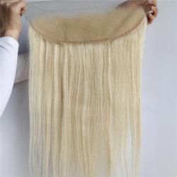 Richtete blondes volles Häutchen 613 Nerz-rohes brasilianisches Jungfrau-Menschenhaar-Stirnbein 100% aus