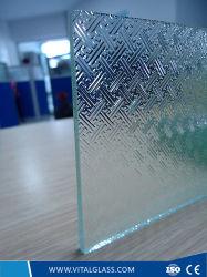 Le verre trempé clair Pattern/Fylfot figure de verre pour salle de bains